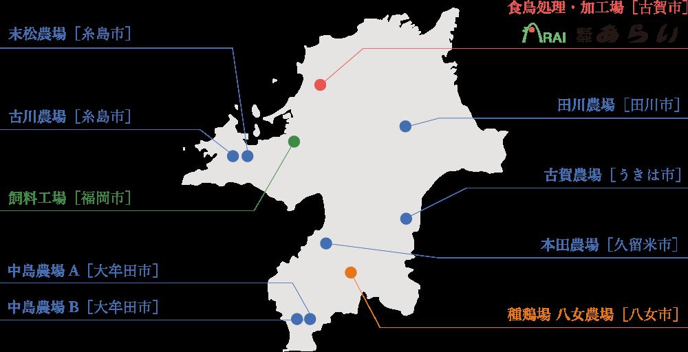 工場・農場地図